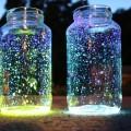 светящиеся неоновые баночки для новогоднего декора