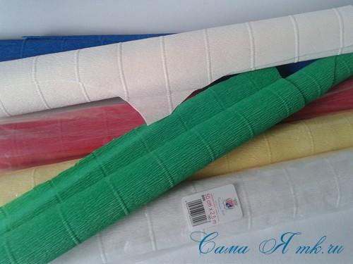 ёлки из гофро гофрированной бумаге своими руками на основе из конуса лепестками валанами торцевание 1