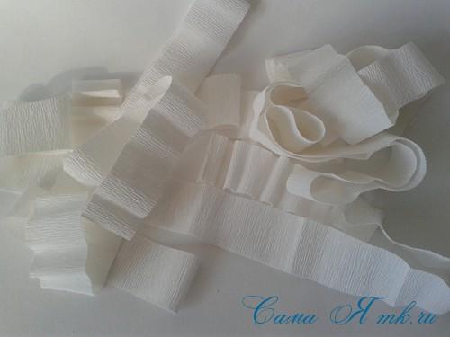 ёлки из гофро гофрированной бумаге своими руками на основе из конуса лепестками валанами торцевание 11
