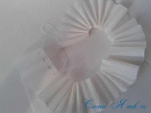 ёлки из гофро гофрированной бумаге своими руками на основе из конуса лепестками валанами торцевание 13
