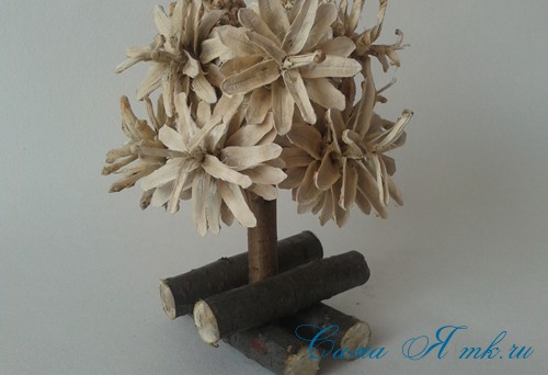 маленькая ёлка ёлочка из шишек своими руками мастер класс с фото 11