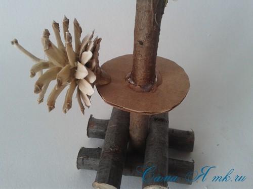 маленькая ёлка ёлочка из шишек своими руками мастер класс с фото 7
