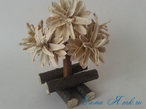 маленькая ёлка ёлочка из шишек своими руками мастер класс с фото 9