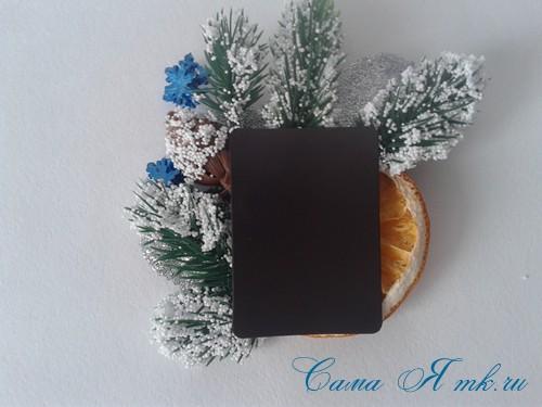 новогодний презент магнит на холодильник своими руками с долькой апельсина идеи с цитрусовыми в декоре 8