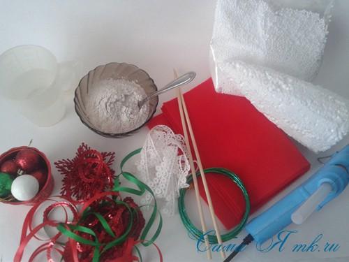 ёлка ёлочка топиарий из фетра косичкой своими руками новогодние сувениры 1