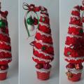 ёлка ёлочка топиарий из фетра косичкой своими руками новогодние сувениры 26