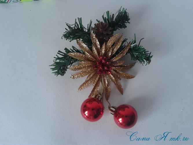 Стеганная прихватка новогодний сапожок из остатков лент своими руками 23