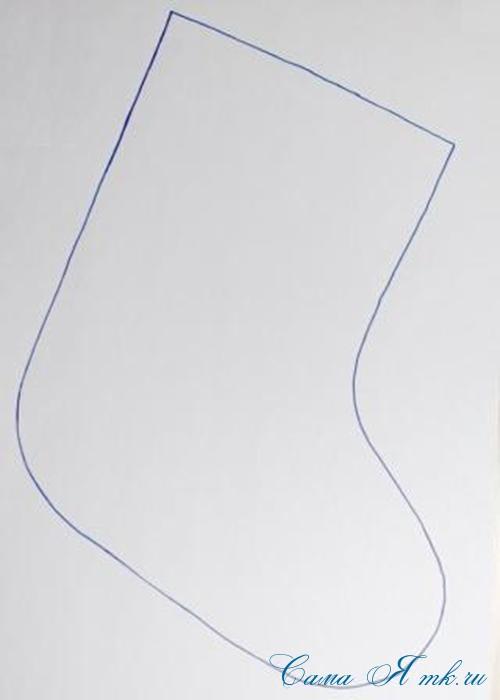 Стеганная прихватка новогодний сапожок из остатков лент своими руками шаблон сапожка