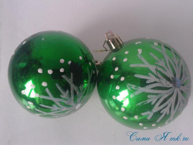 новогодние ёлочные шары из пайеток своими руками 2