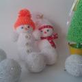 поделки шарики снеговик ёлка из мелких цветных шариков пенопласта своими руками