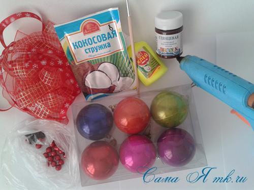 шоколадные ёлочные шары своими руками 1