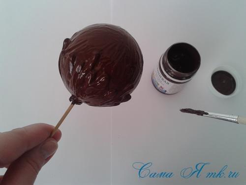 шоколадные ёлочные шары своими руками 10