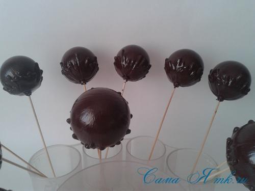 шоколадные ёлочные шары своими руками 11