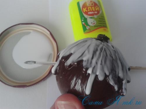 шоколадные ёлочные шары своими руками 13