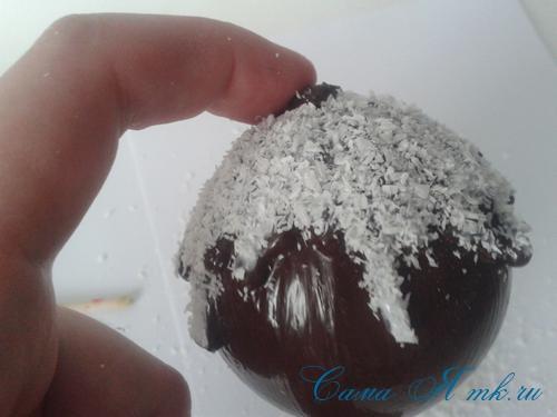 шоколадные ёлочные шары своими руками 14