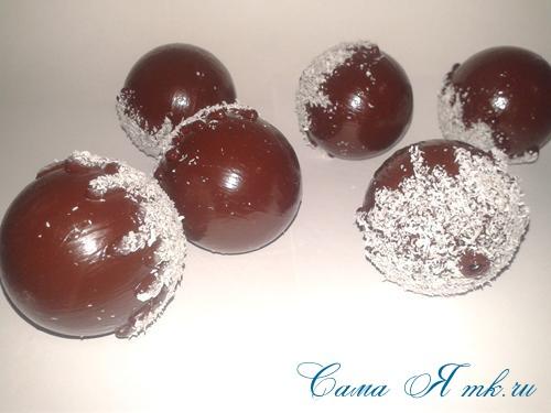 шоколадные ёлочные шары своими руками 15