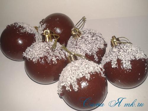 шоколадные ёлочные шары своими руками 16