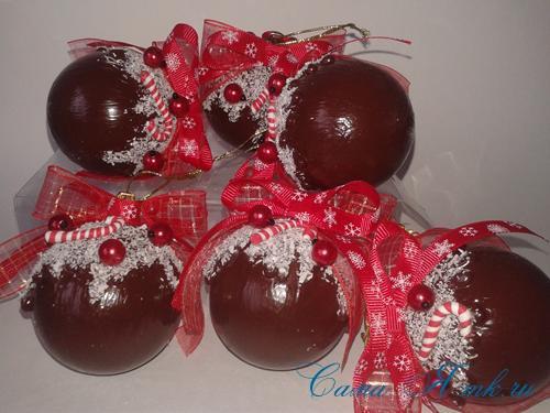 шоколадные ёлочные шары своими руками 17