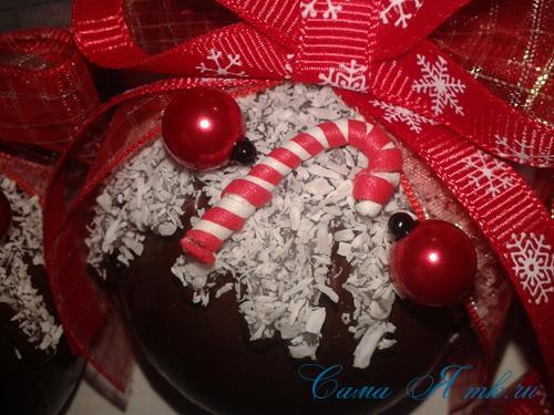 шоколадные ёлочные шары своими руками 19