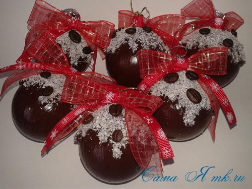 шоколадные ёлочные шары своими руками 20