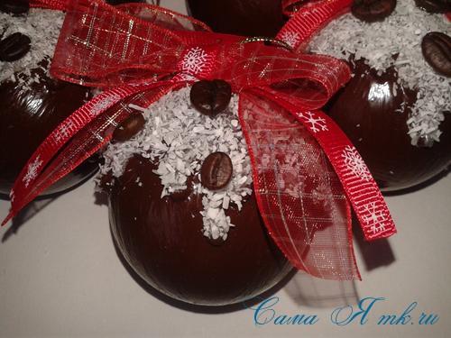 шоколадные ёлочные шары своими руками 21