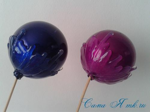 шоколадные ёлочные шары своими руками 7