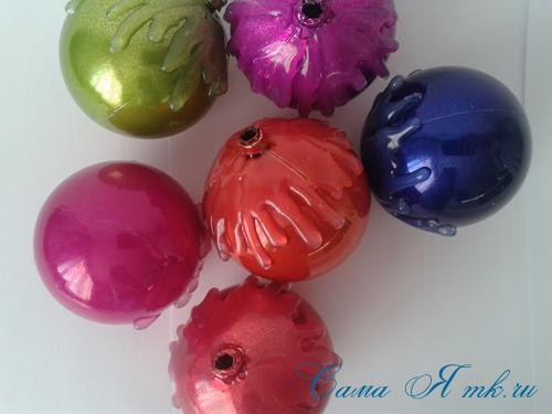 шоколадные ёлочные шары своими руками 8
