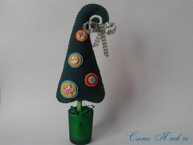 ёлочка ёлка из фетра объемная своими руками поделки из фетра 17
