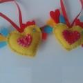 ёлочные игрушки украшения на ёлку подвески из фетра своими руками десткие новогодние поделки из фетра  9