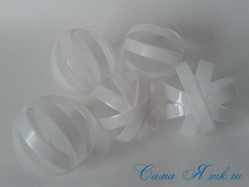 новогодние ёлочные шары из пластиковых бутылок своими руками 9