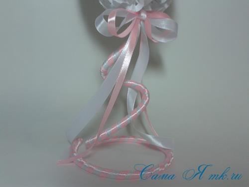 топиарий на день валентина влюбленных с розами из ажурных салфеток 5 (Copy)
