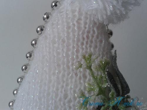 ёлочка ёлка спицами схема вязания своими руками новогодние поделки сувениры 6