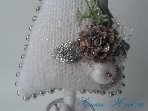 ёлочка ёлка спицами схема вязания своими руками новогодние поделки сувениры 7