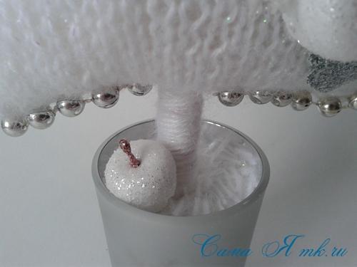 ёлочка ёлка спицами схема вязания своими руками новогодние поделки сувениры 8