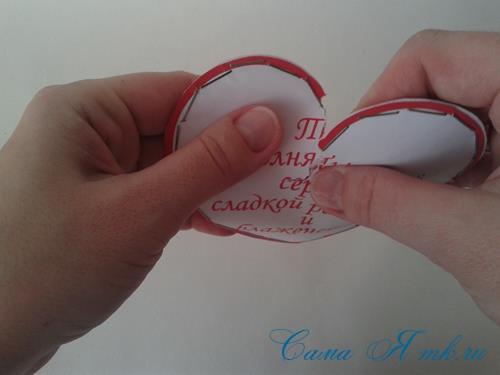 бумажные сердечки со сладким сюрпризом на 14 февраля день валентина влюблённых своими руками шаблон 24