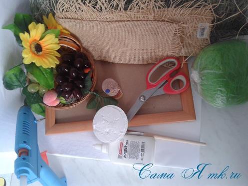 объеное анно коллаж из муляжных декоративных фруктов и ягод на стену своими руками 1