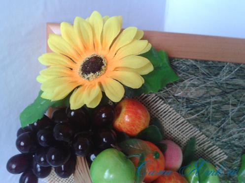 объеное анно коллаж из муляжных декоративных фруктов и ягод на стену своими руками 30