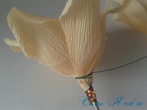 розы из гофро гофрированной бумаги с конфетами свит дизайн своими руками 12