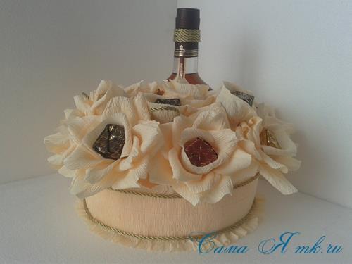 розы из гофро гофрированной бумаги с конфетами свит дизайн своими руками 19