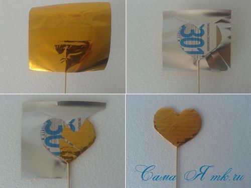 сердечки с пайетками в декоре своими руками шаблон сердца 4