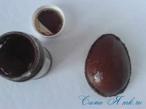 Кофейные магниты яички из зерен кофе на холодильник к Пасхе в форме яйца своими руками  10