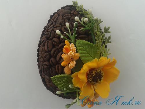Кофейные магниты яички из зерен кофе на холодильник к Пасхе в форме яйца своими руками  20