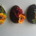 Кофейные магниты яички из зерен кофе на холодильник к Пасхе в форме яйца своими руками  23