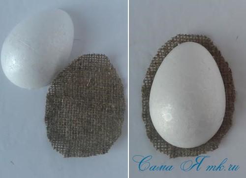 Кофейные магниты яички из зерен кофе на холодильник к Пасхе в форме яйца своими руками  4