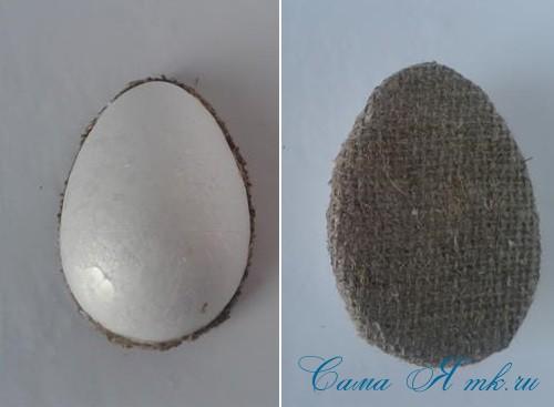 Кофейные магниты яички из зерен кофе на холодильник к Пасхе в форме яйца своими руками  8а