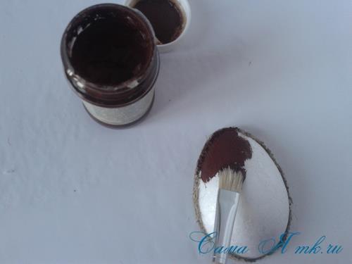 Кофейные магниты яички из зерен кофе на холодильник к Пасхе в форме яйца своими руками  9