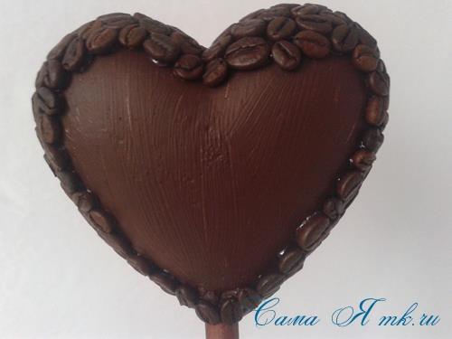 Топиарий из кофейных зёрен в форме сердца своими руками кофейное сердце из кофе 10