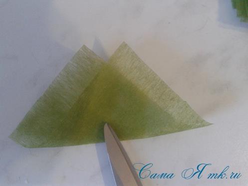Фруктовый топиарий из тонкого флористического фетра методом торцевания своими руками 12