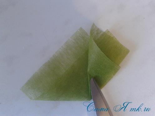 Фруктовый топиарий из тонкого флористического фетра методом торцевания своими руками 13
