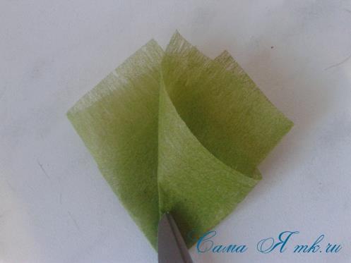 Фруктовый топиарий из тонкого флористического фетра методом торцевания своими руками 14